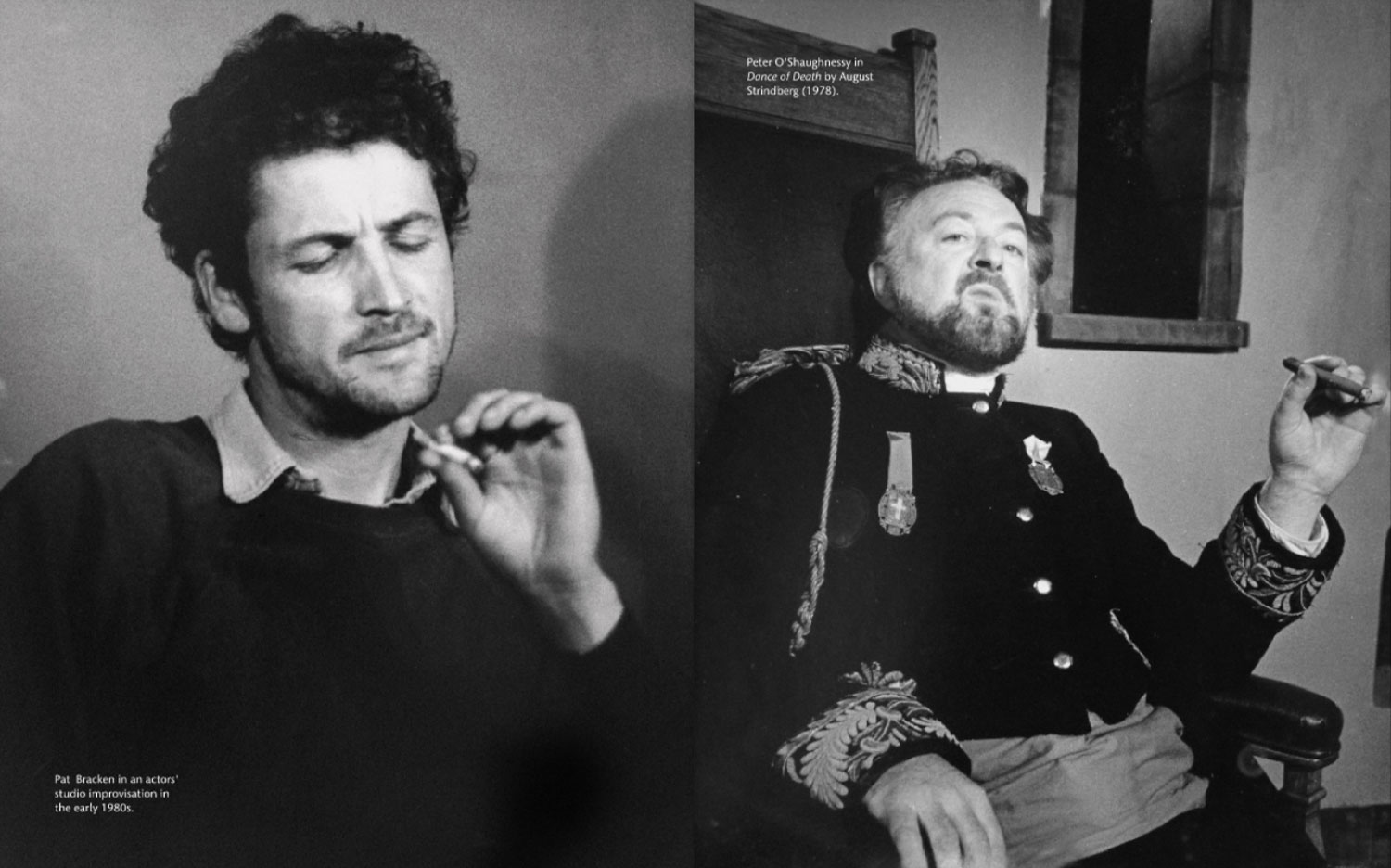 Two actor portraits in black and white (review)