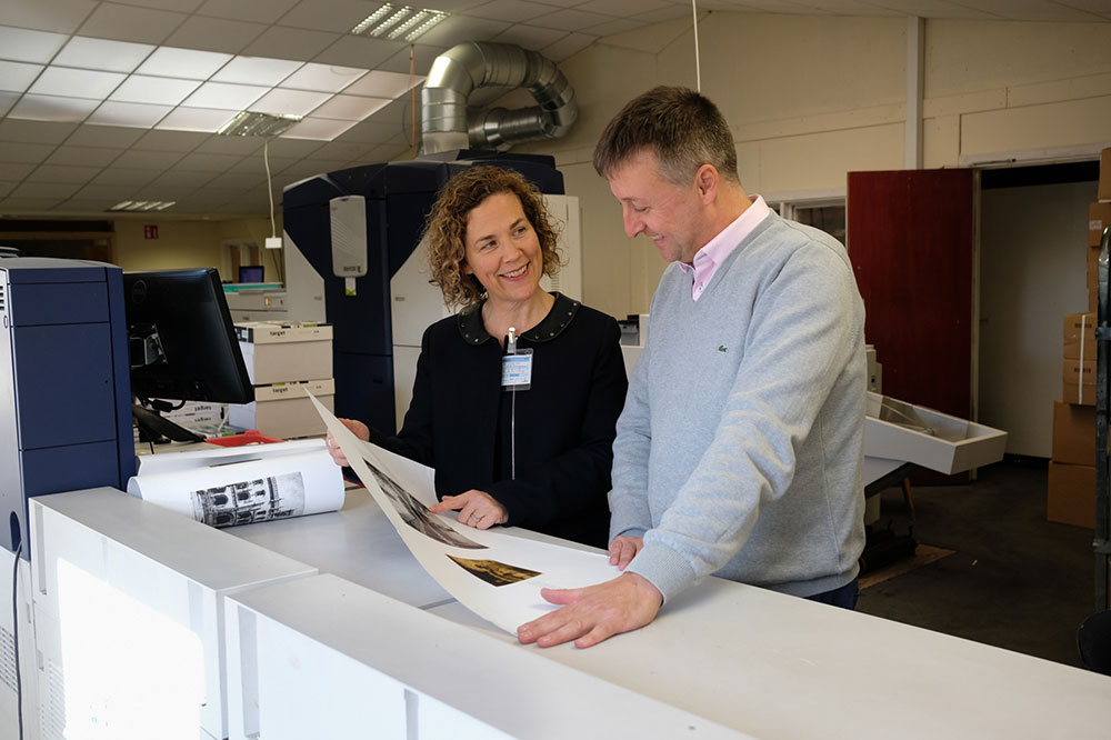 Kate smiling with print expert