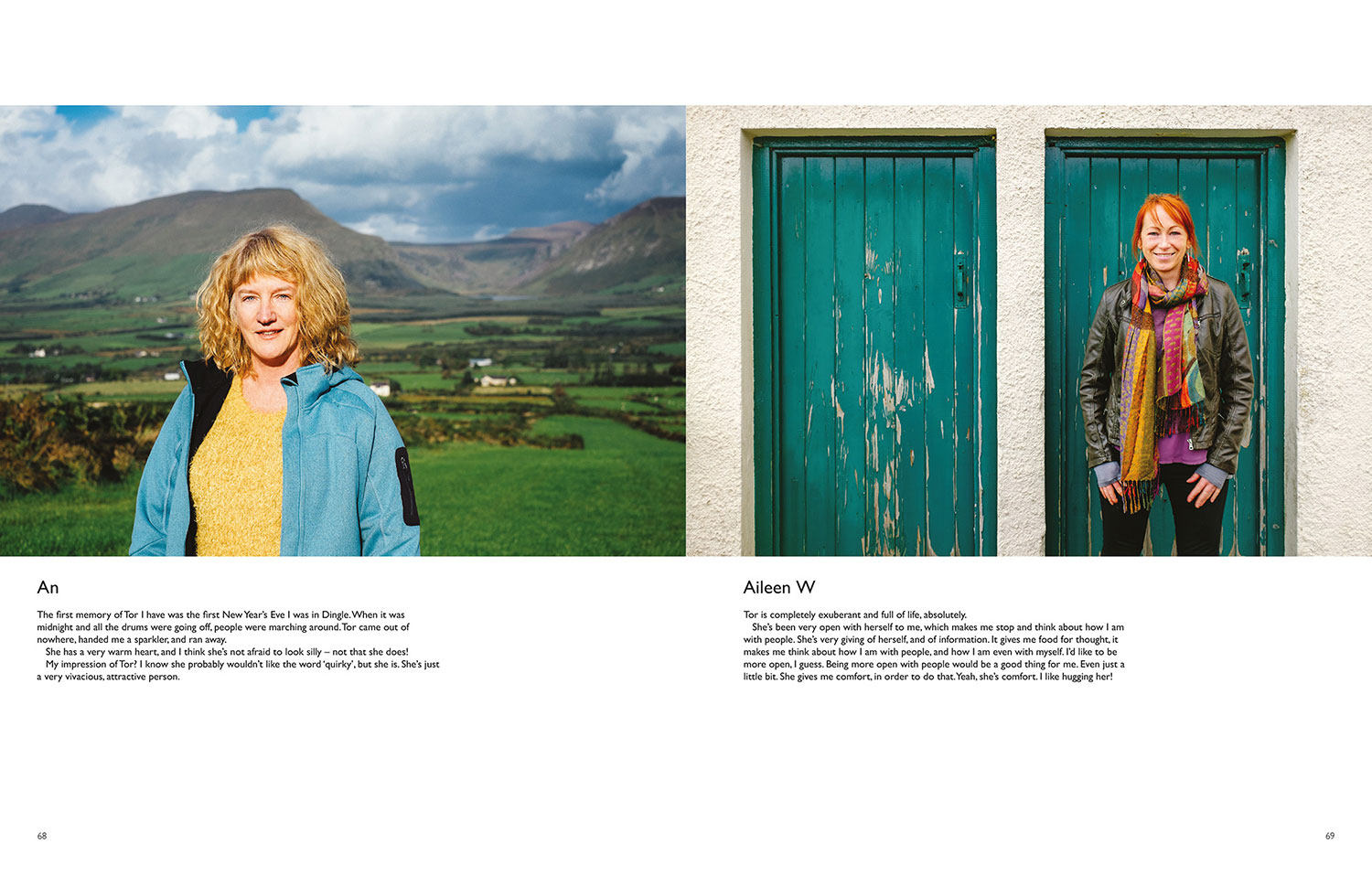 portraits of woman smiling Ireland