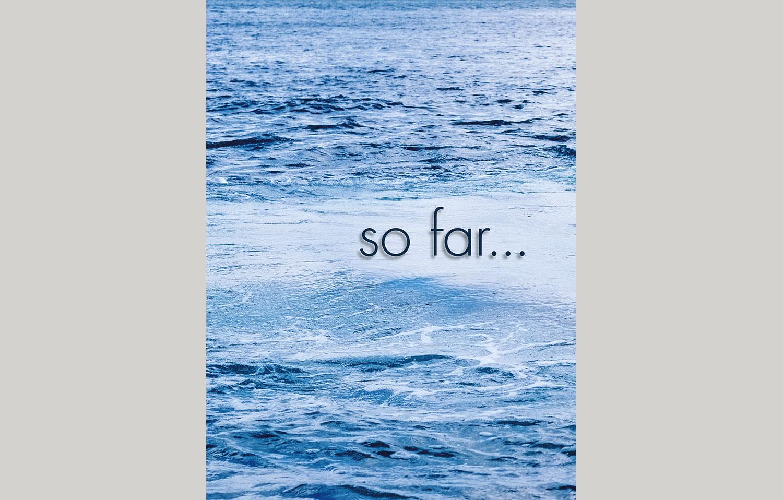 hardback cover birthday book seawater in blue