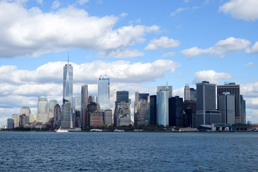 2018 NYC skyline showing Freedom Tower