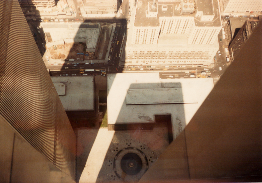View from the top of the World Trades Center in New York in 1984
