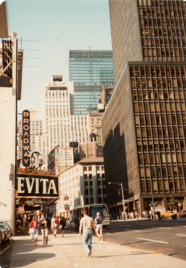 The Broadway Theatre NYC in 1984