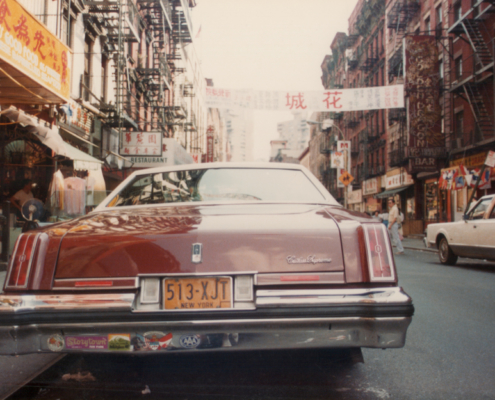 1970s car on New York street