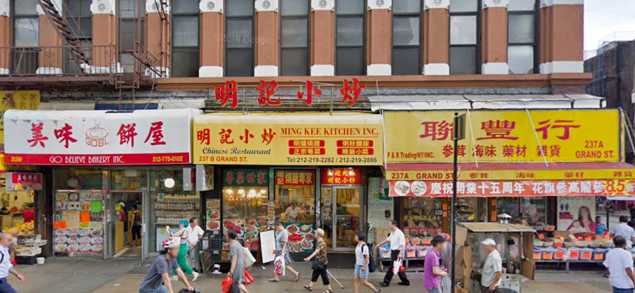 Chinese shops on Grand St NYC
