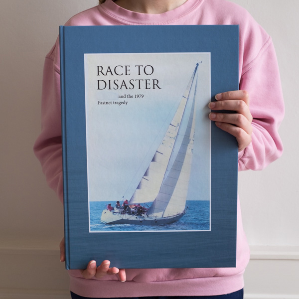 Commemorative book about yacht race made by Kate Horgan Bespoke Books
