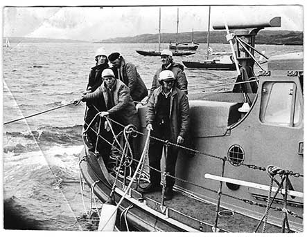 Historical photo of lifeboat crew